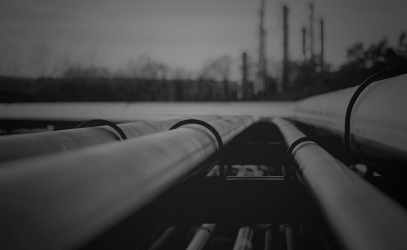 Pipeline Closeup Black and White