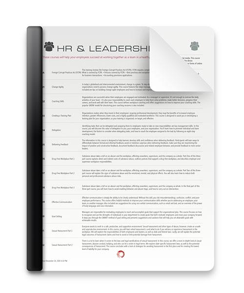 HR & Leadership Courses