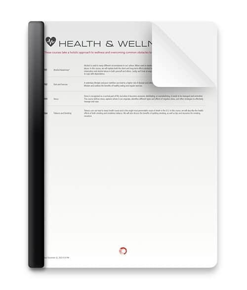 Health and Wellness Courses